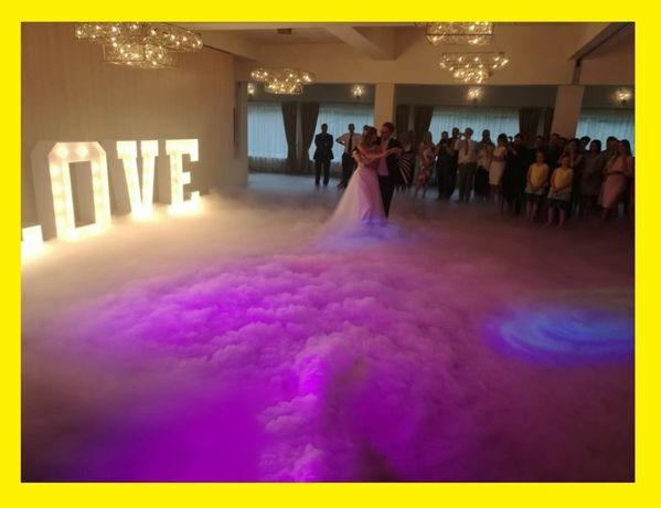 Ciężki dym na pierwszy taniec taniec w chmurach Napis Love Fotobudka
