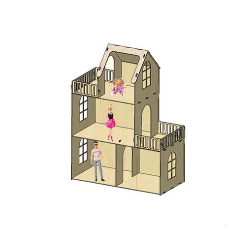 Будинок для Барбі з терасами / Кукольный дом для Барби / дом Барби