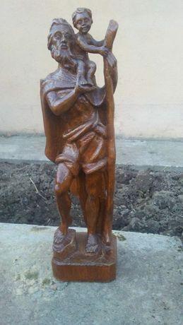 Sw Krzysztof, rzeźba, drewno