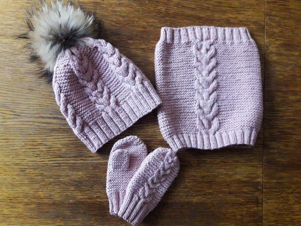 Набір комплект шапка + снуд + рукавички