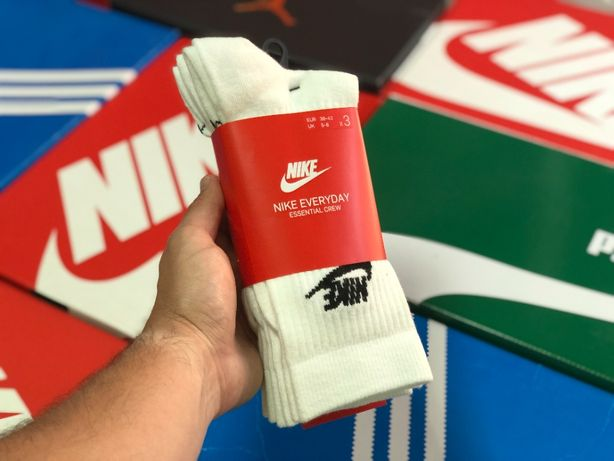 Носки Nike Everyday Essential ОРИГИНАЛ SK0109-100 белые высокие 3 пары