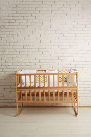 Новое Лижко,Амели кроватка детская натуральное дерево бук.Не крашенная