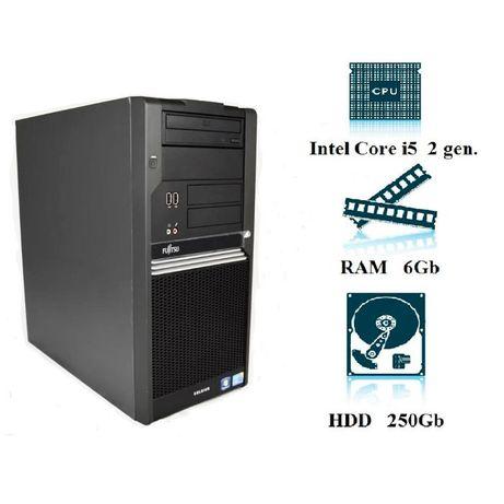 Компьютер, системный блок, Core I5, 2400, 4 ядра, 6 ОЗУ, 250 HDD, ОПТ