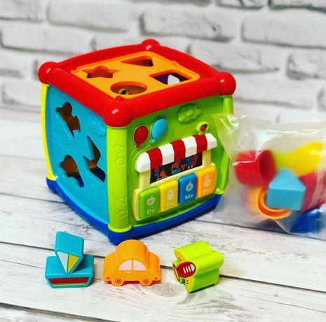 Музыкальный куб сортер логическая игра, развивающий весёлый куб.