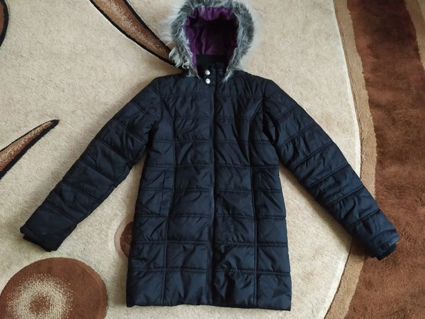 Зимняя удлиненная куртка на девочку