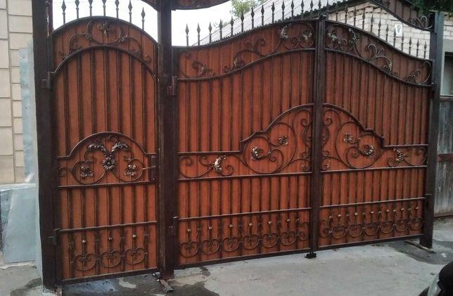 Кованные ворота, навесы