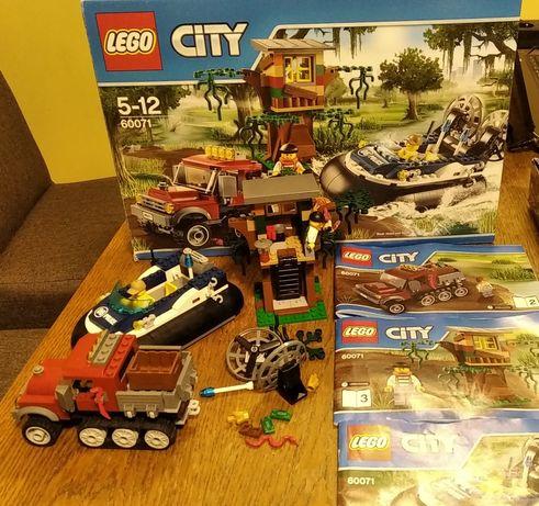 Lego city 60071 samochód łódź policja