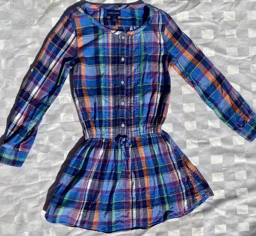 Camisa blusa vestido Ralph Lauren, 6 X, ele veste ate 10 anos 8 EUROS