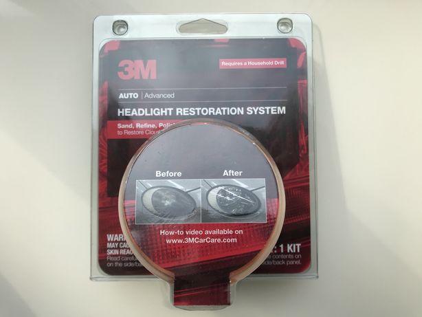 Якісне відновлення авто фар у вас в дома 3M Headlight lens restoration