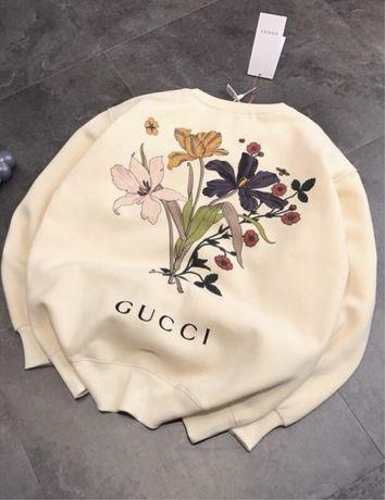 Bluza kremowa firmowa Gucci okazja S Siwiec