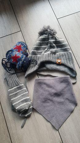 Komplet czapka rękawiczki dla chłopca