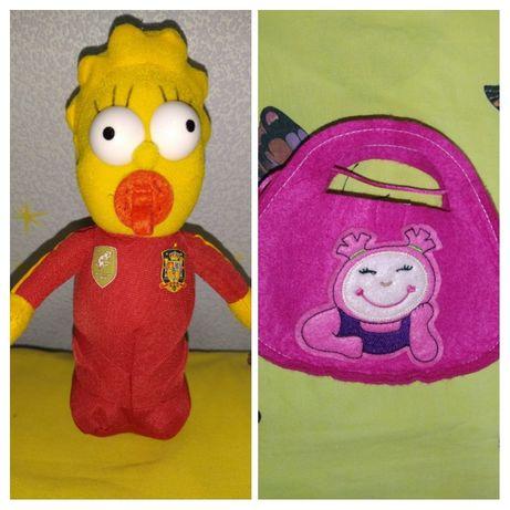 Мегги (Симпсоны) мягкая игрушка и фетровая сумочка
