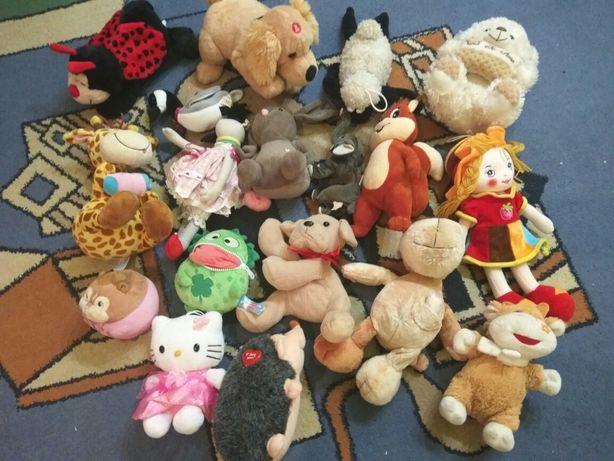 Мягкие игрушки около 20 шт,  мишка, панда, Китти