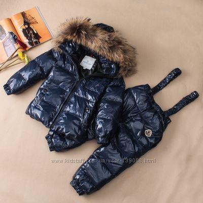 ЛУГАНСК Зимний комбинезон детский Moncler куртка+штаны натуральный пух
