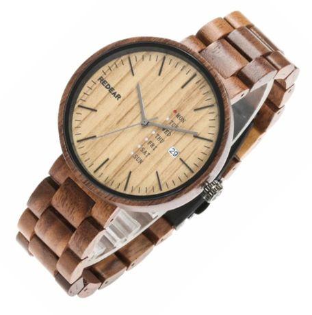 NOWY DREWNIANY ZEGAREK Eko Bambus męski pasek drewniany SKLEP prezent