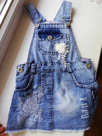 Платье, сарафан джинсовый комбинезон,