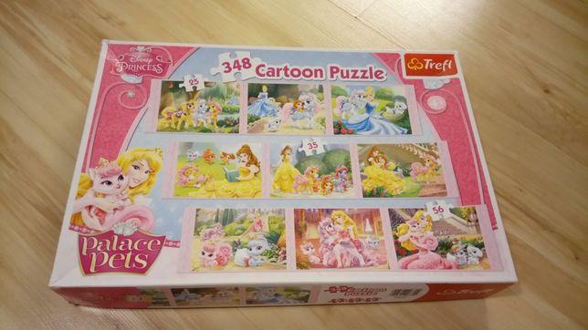 Puzzle Księżniczki, 9 zestawów, 348 elementów