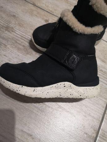 Skórzane, wodoodporne, buty zimowe , śniegowce Woden, j. Mrugala, geox
