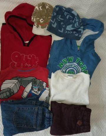 Пакет одежды на мальчика 6 лет 116 рост 8 вещей