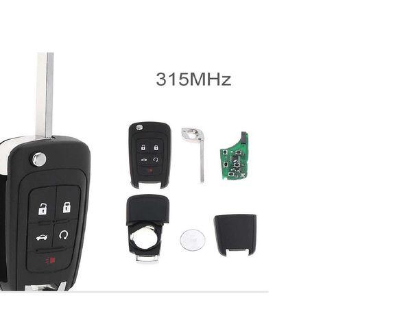 Ключ 5 кн. 315 МГц, ID46 чип  Chevrolet Cruze Epica Lova Camaro Impala