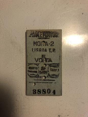 Bilhete de comboio de 1991
