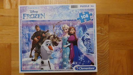 Clementoni Frozen disney puzzle 6+ 108 elementów
