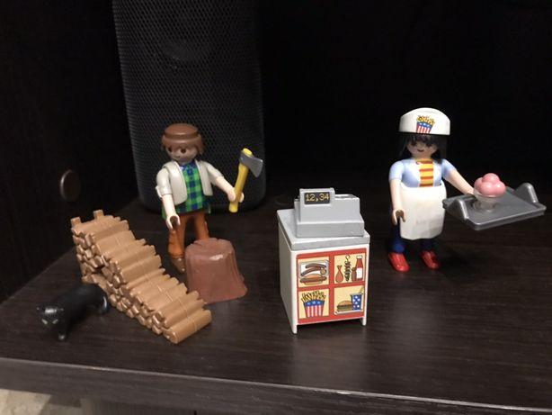 Playmobile drwal i sprzedawczyni klocki