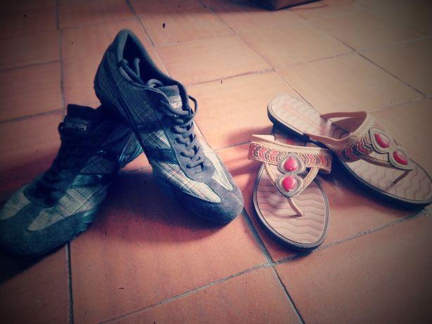 Tênis e sandálias tamanho 39