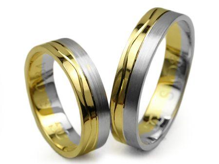 Złote Obrączki 585 S084 5mm Jubiler Goldrun - Mega Rabaty