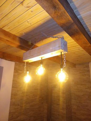 Zyrandol .lampa. drewniana .ozdoba. Rustykalny