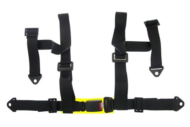Ремни безопасности Четырехточечные - Black