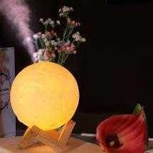 Umidificador de ar e Aromatizador 3D luz da lua 880ml