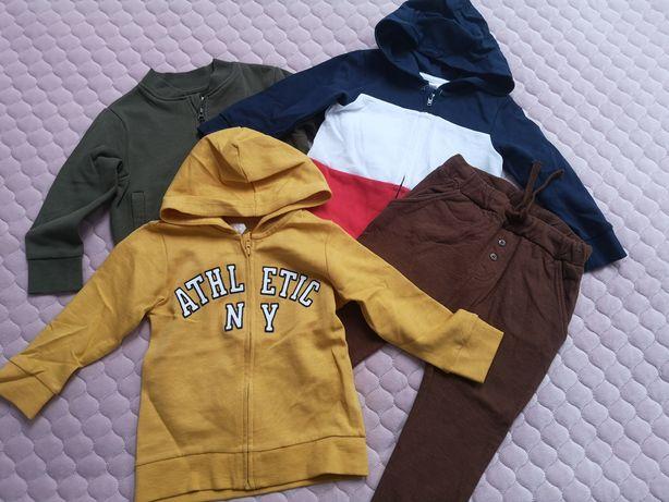 Bluzy spodnie hm i sinsay rozm 86 i 92