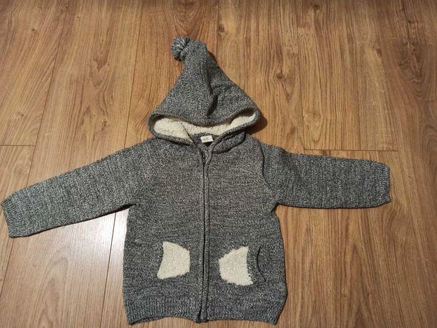 Sweterek z kapturem H&M chłopięcy 92 jak nowy