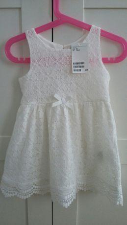 Sukienka koronkowa H&M rozm . 92- NOWA Z METKĄ