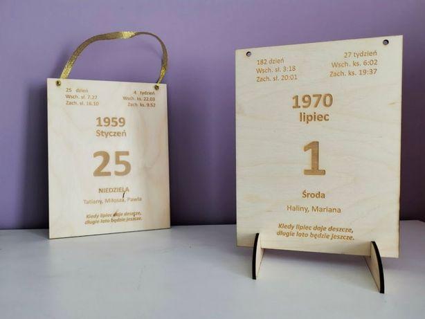 Kartki z kalendarza - TABLICZKA - kartka z kalendarza - wszystkie daty