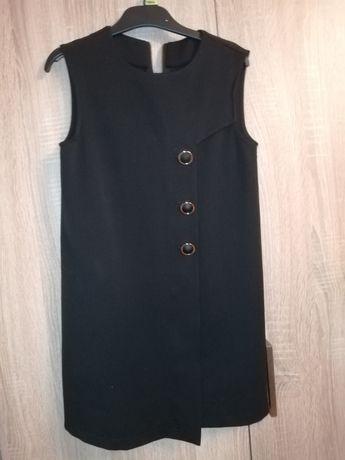 Sukienka czarna, nowa bez metki 134