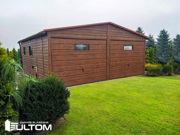 Garaż blaszany jak drewniany garaże z profili zamkniętych blaszaki