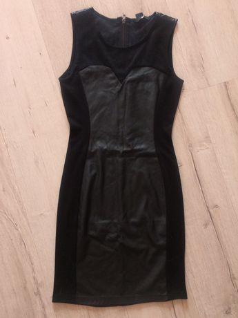 Платье женское кожа стрейч/трикотаж H&M р.42/44 Xs/S