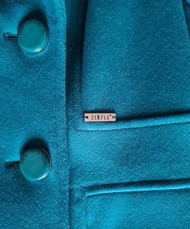 nowy_piękny wełniany damski płaszcz_firmy SIMPLE