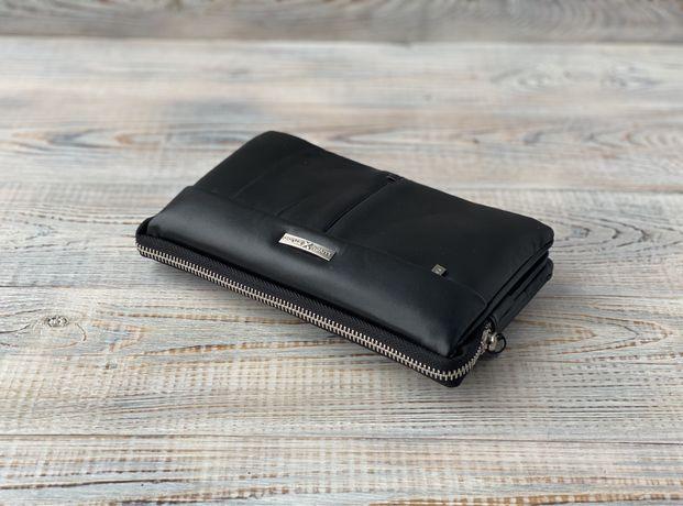Мужская кожаная барсетка клатч кошелек Luxon