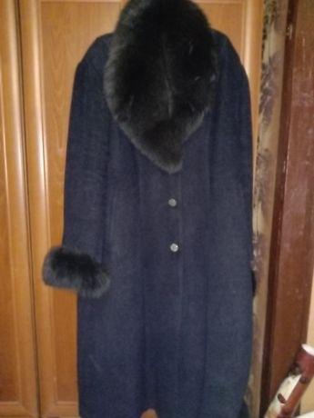 Зимнее женское пальто батал