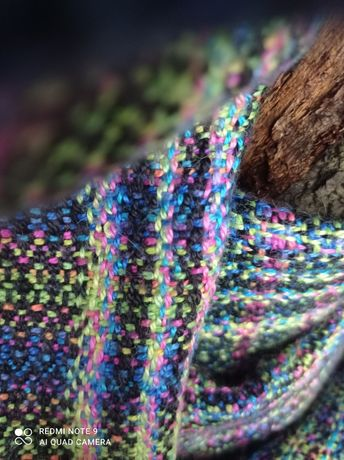 HW Unicorn Weaver Luminescense chusta kółkowa jedwab alpaka nosidło