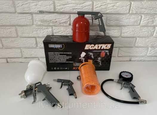 Набор пневмоинструмента для компрессора Euro Craft ECATK5 ( 5шт )
