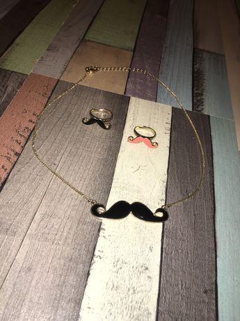 Zestaw biżuterii z wąsami