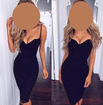 Sukienka mała czarna sukienka koronkowa NOWA R. 38 (M)