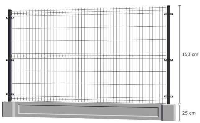 Promocja! Ogrodzenie panelowe GRAFIT panel ogrodzeniowy 153 Panel 3D