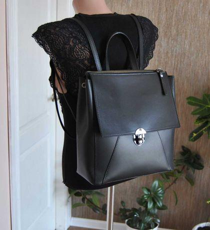 Кожаный рюкзак Vera pelle / шкіряний рюкзак