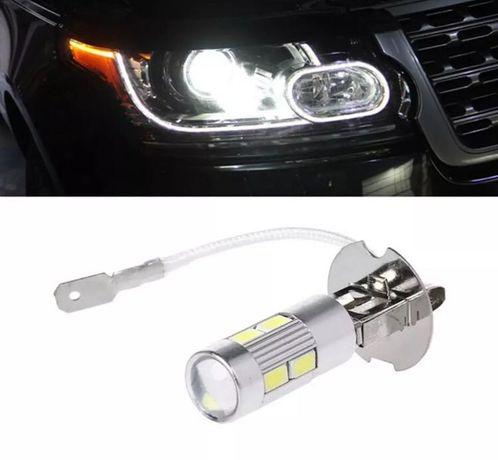 Авто лампы светодиодные Н3 с линзой (противотуманка)