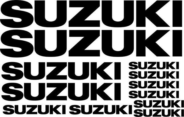 Naklejki SUZUKI UNIWERSALNE Arkusz 2 - na Motocykl - Folia Długoletnia